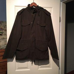 BRAND NEW TNA olive green utility jacket